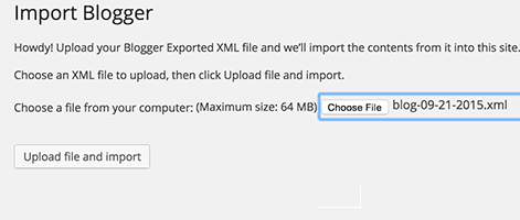 How To Import Blogger XML File