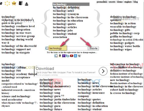 LSI Keywords by Soovle Tools