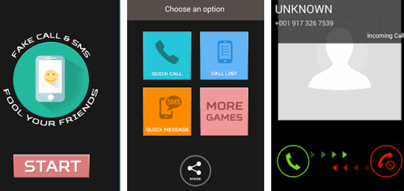 Popular Prank call apps for Android Smartphone