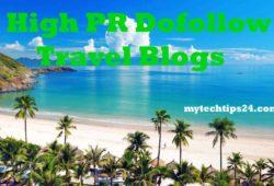 99+ High PR Dofollow Travel Blogs to Build Backlinks