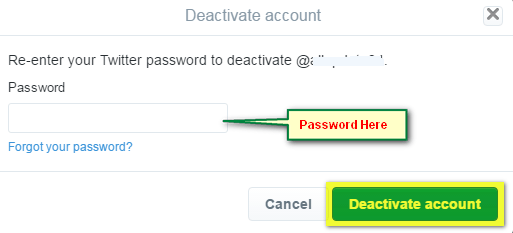 How to delete your social twiiter account