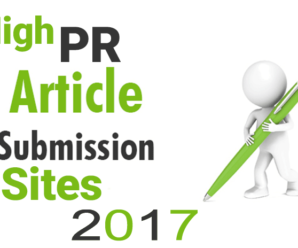 Free 100+ High PR Dofollow Article Submission Sites 2017