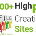 100+ Best High PR Profile Creation Sites List 2017