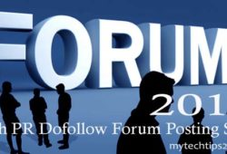 High PR Dofollow Forum Posting Sites List 2017