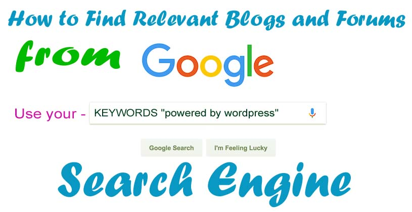 How to Find Relevant Blogs and Forums from Search Engine