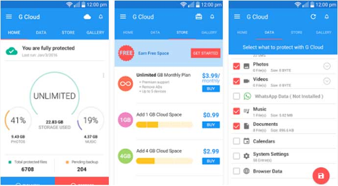 Top free best cloud app for android to store your data for Cloud vault app