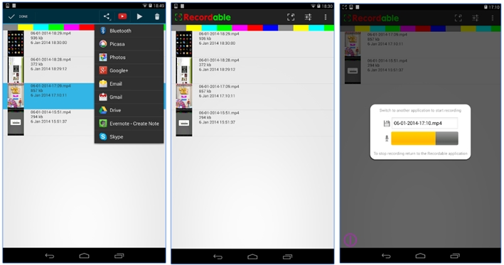 Screen Recording Apps for Android 2018