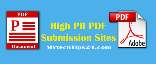 Top best high PR PDF submission sites list