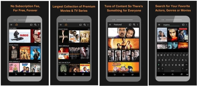 free film apps for iphone