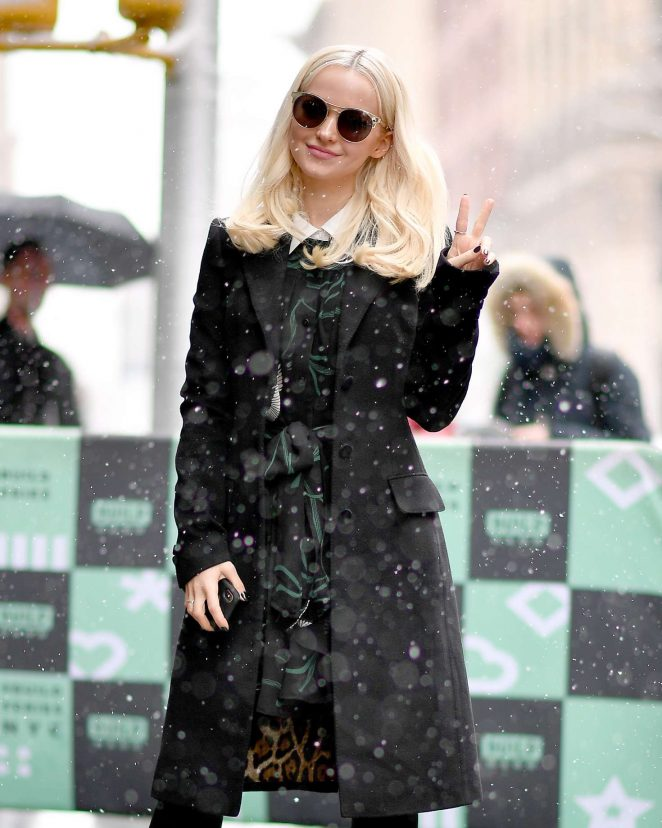 Dove Cameron – Arrives at AOLBuild studios in New York City