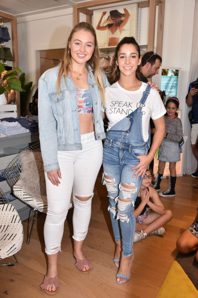 Iskra Lawrence and Aly Raisman – Aerie Lincoln Road Flagship Store in Miami
