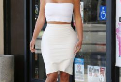 Kim Khiardasan in White out in Los Angeles