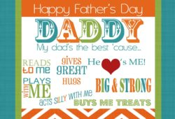 Happy Fathers Day Card Ideas – Gifts Ideas – Homemade and Printable