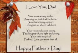 Happy Father's Day Poems 2019, Poetry for Dad's – Poems with Images