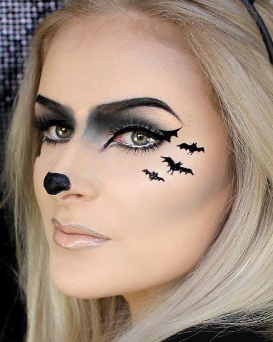 Bat Makeup Halloween Costume.Bat Makeup Costume Saubhaya Makeup
